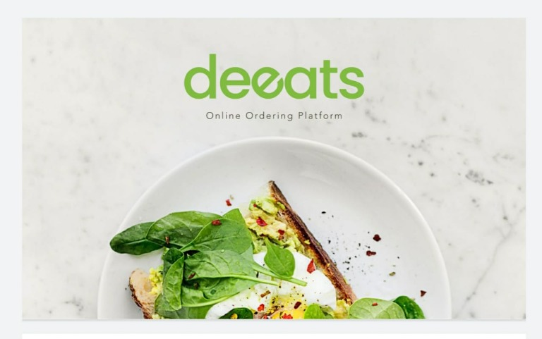 deeats digital ordering platform for restaurant, cafe and convenience store