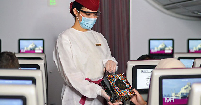 Service Culture Inflight Qatar Airways selama pandemi COVID-19